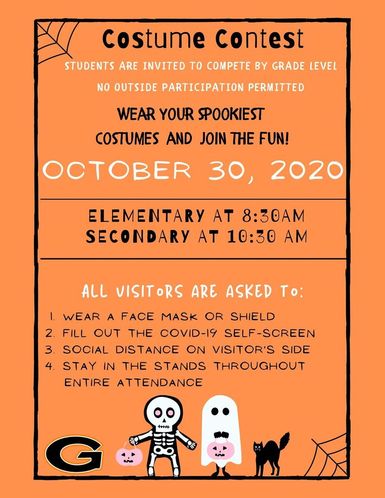 Costume Contest Information 2020
